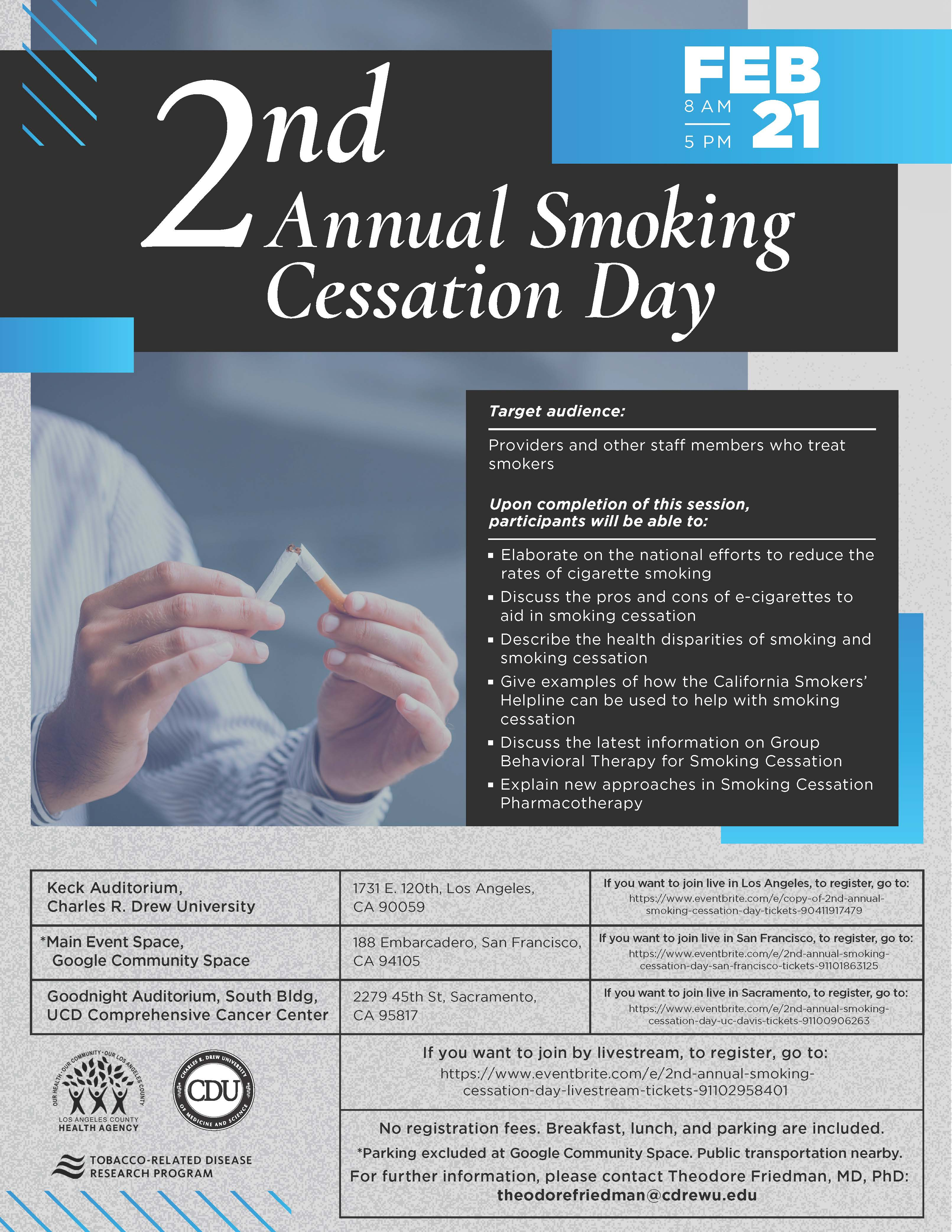 flyer for 2nd annual smoking cessation day
